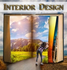 Interior Design Book Publishing Services shown with an open book with Fantasies