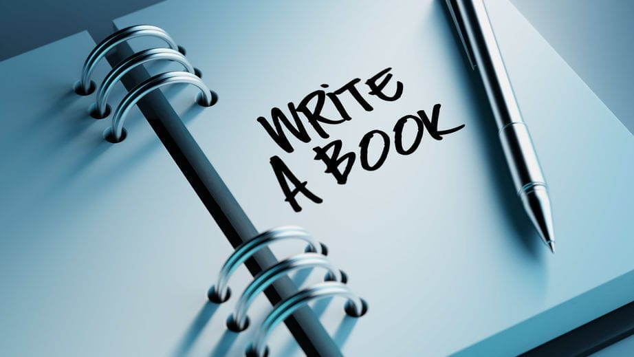 Image shows first in steps of writing a book