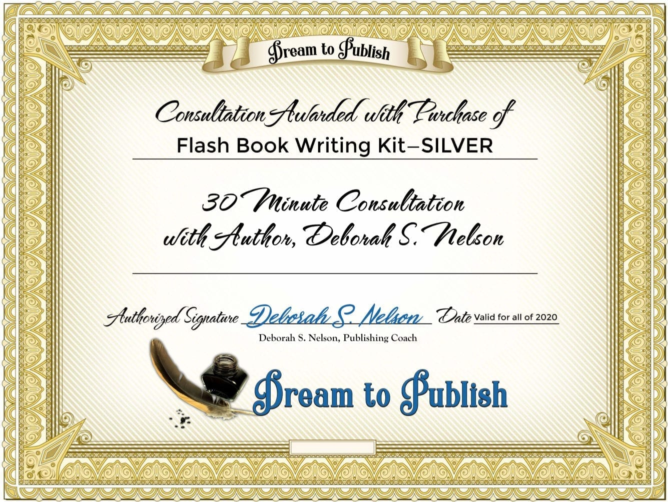 Flash Book Writing Kit—SILVER Certificate