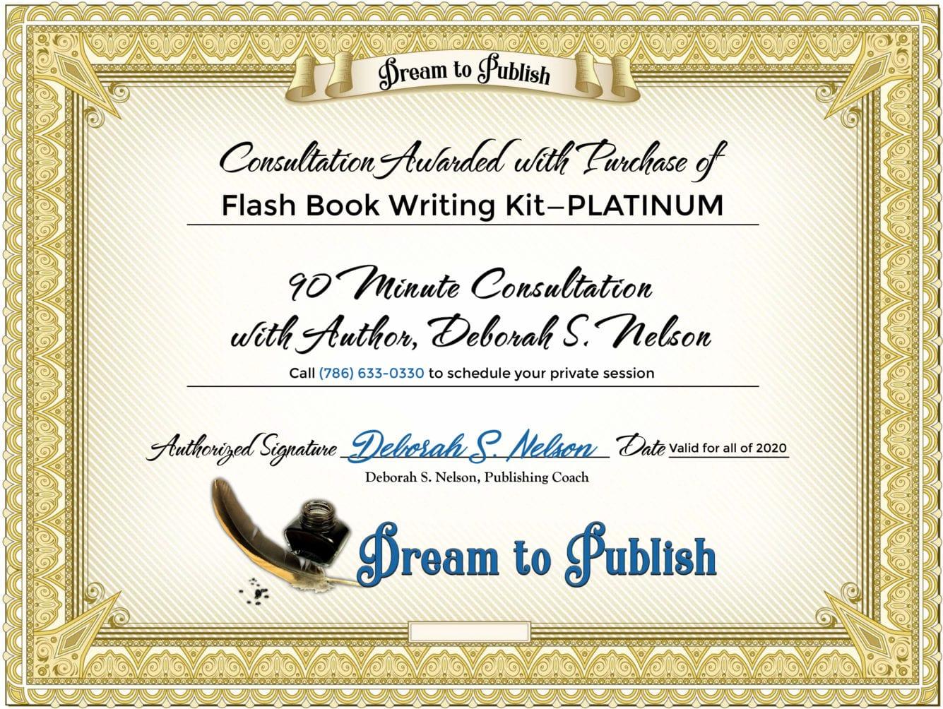 Flash Book Writing Kit—PLATINUM Certificate